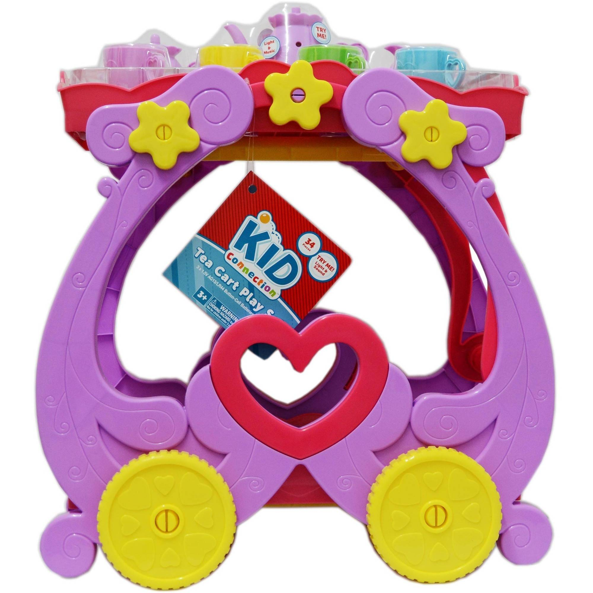 Kid Connection Tea Cart Play Set Walmart