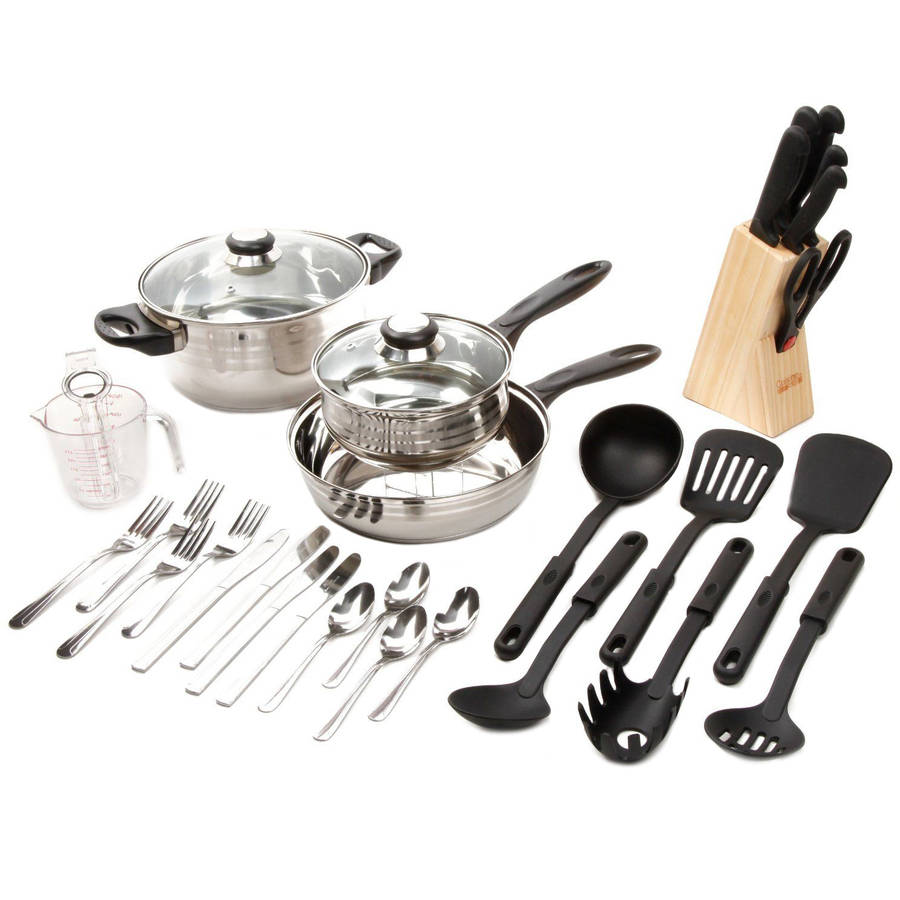 Lybra Stainless Steel 32-Piece Cookware Set