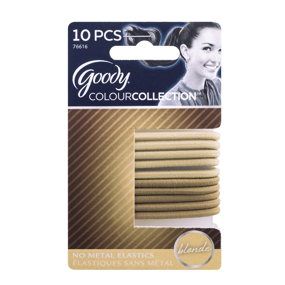 goody colourcollection gentle hair elastics blonde