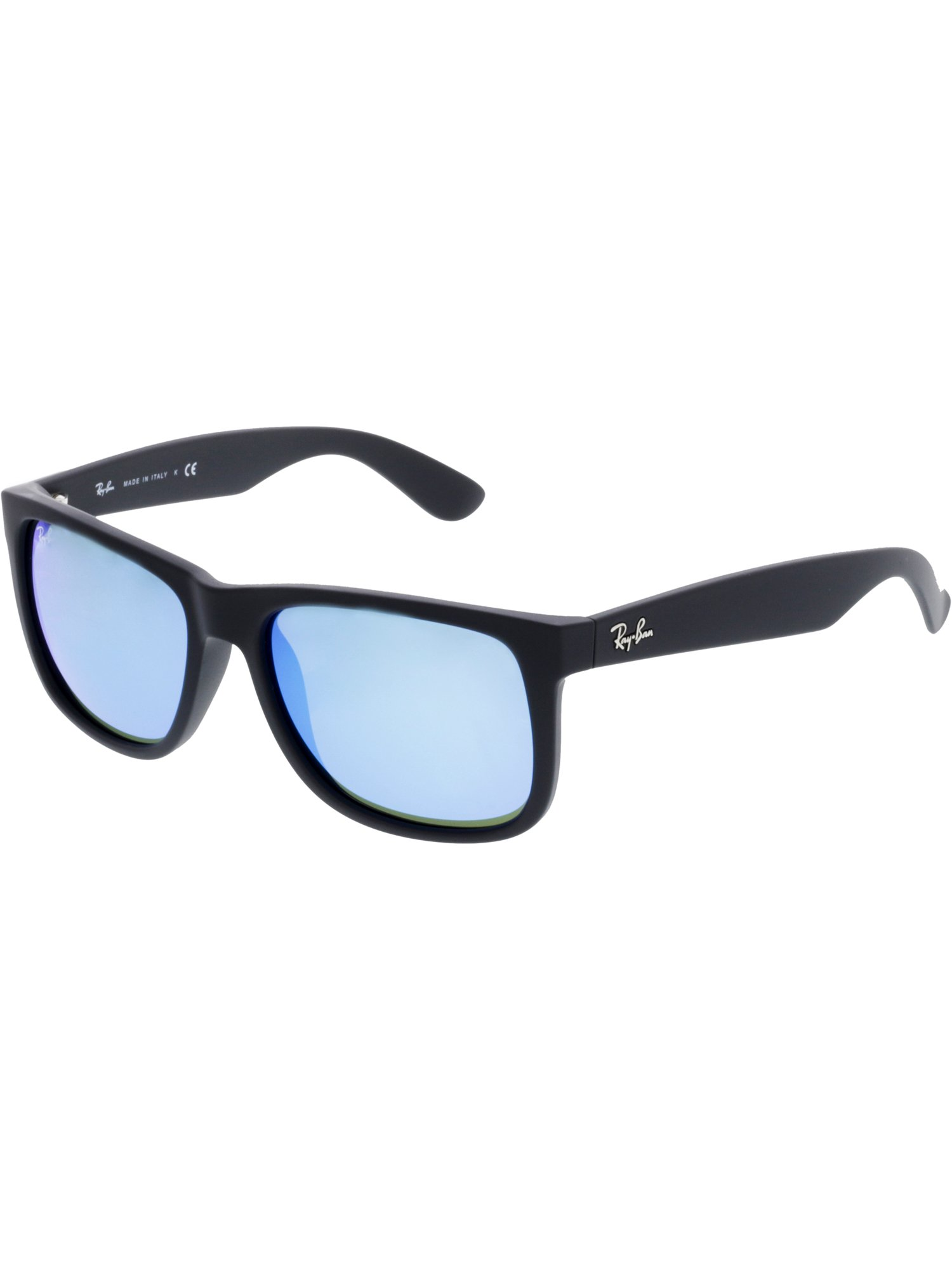 13db28de5f Ray-Ban Mirrored Justin RB4165-622 55-54 Black Rectangle ...