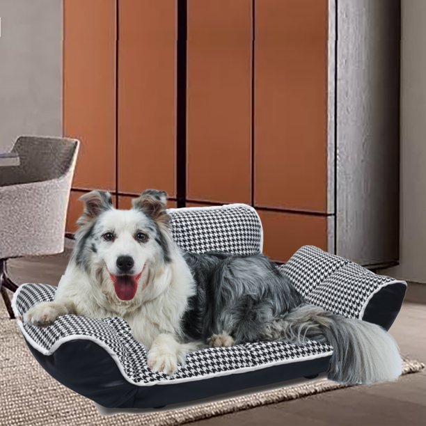Orthopedic Pet Dog Bed For Elderly Dogs Or Puppies Deluxe Pu Leather Large Lounge Dog Sofa W Adjustable Backrest Armrest Scratch Resistant Pu Leather Cover Ultra Strong Structure 220 5lbs S1362 Walmart Com Walmart Com