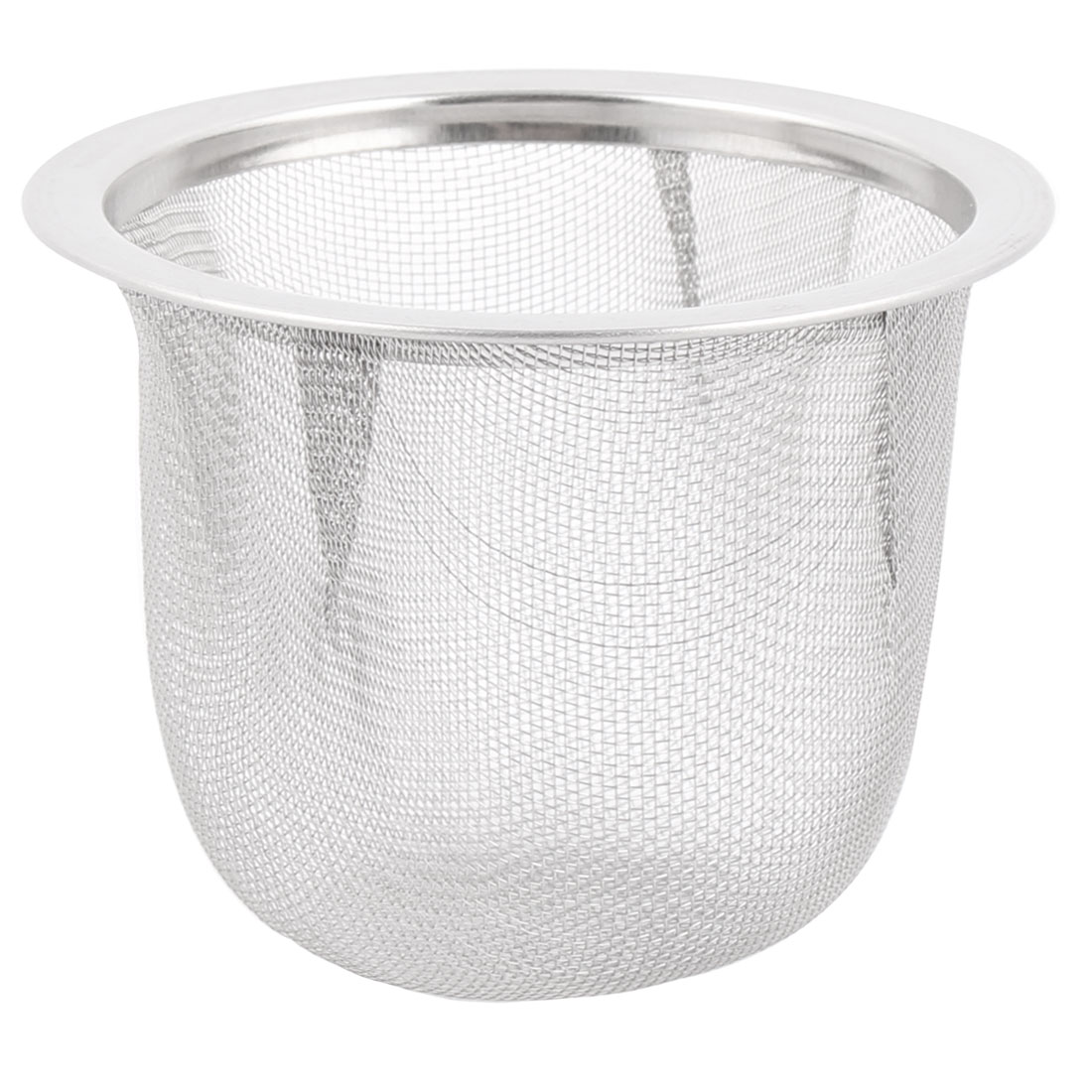 Tea Leaf Spice Round Wire Mesh Teapot Filter Strainer 63mm Dia 50mm Depth