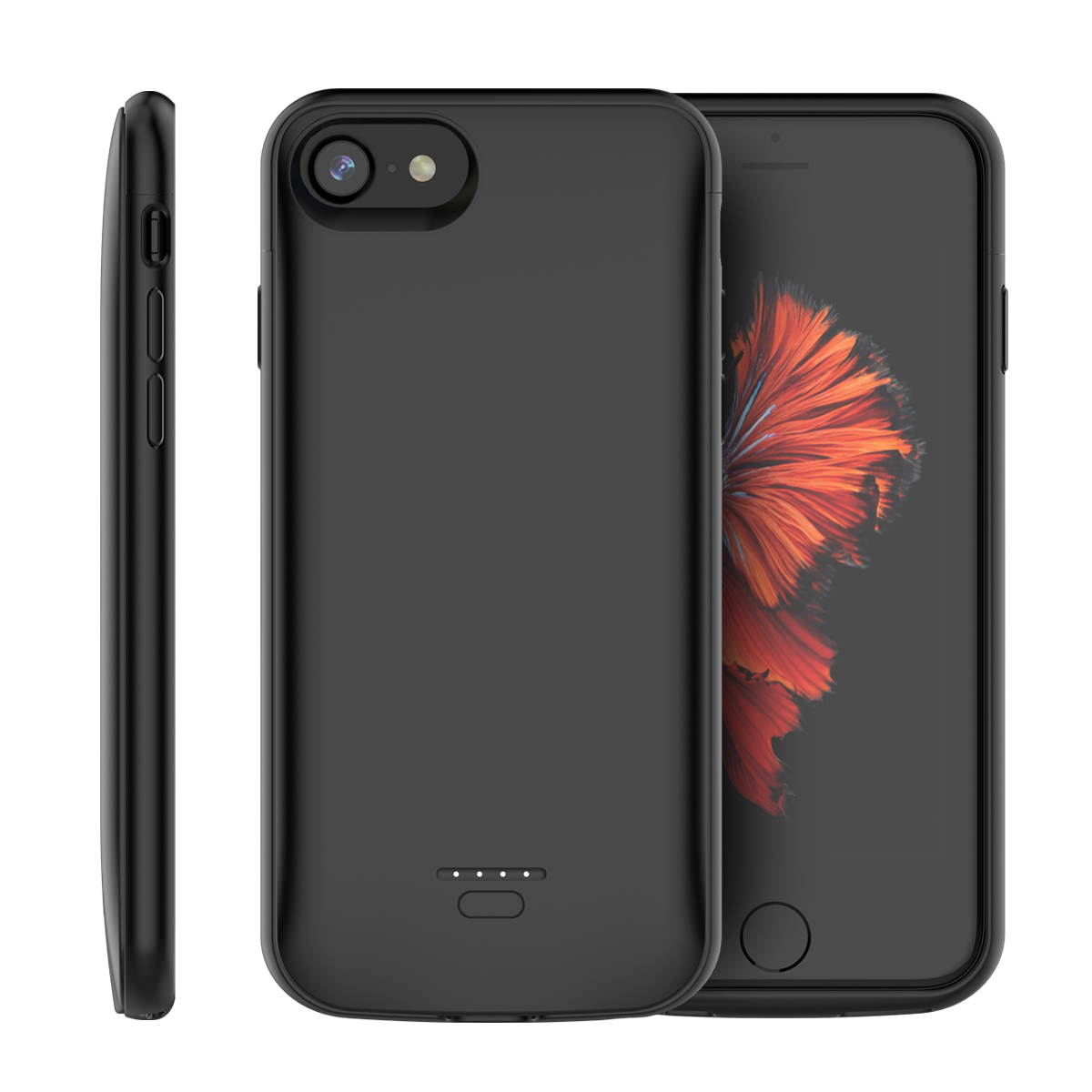 Konesky For iPhone 6 iPhone 6s 4.7 inch iPhone 7 iPhone 8 Battery Charger Case 4000mAh External Backup Charger Power Bank Protective Cover Black