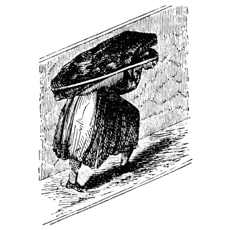 Woman In Coal Mine 1842 Na Woman Working In A British Coal Mine Wood Engraving From The Mines Report Of A Royal Commision 1842 Rolled Canvas Art     24 X 36