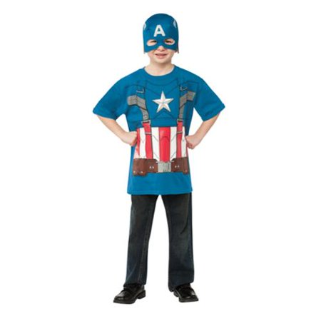 Captain America Retro Boys T Shirt Super Hero Halloween Costume - Captain America Winter Soldier Costume For Sale