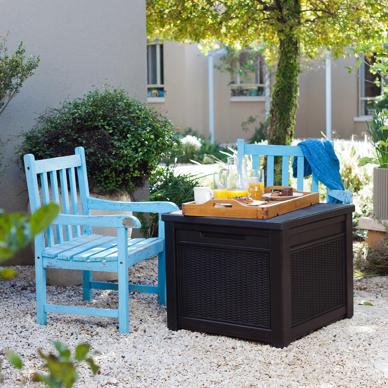 Keter Outdoor Patio Garden Cube Wood
