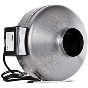 iPower 4 Inch 190 CFM Inline Duct Ventilation Fan HVAC Exhaust Blower for Grow Tent, Grounded Power Cord, Silver