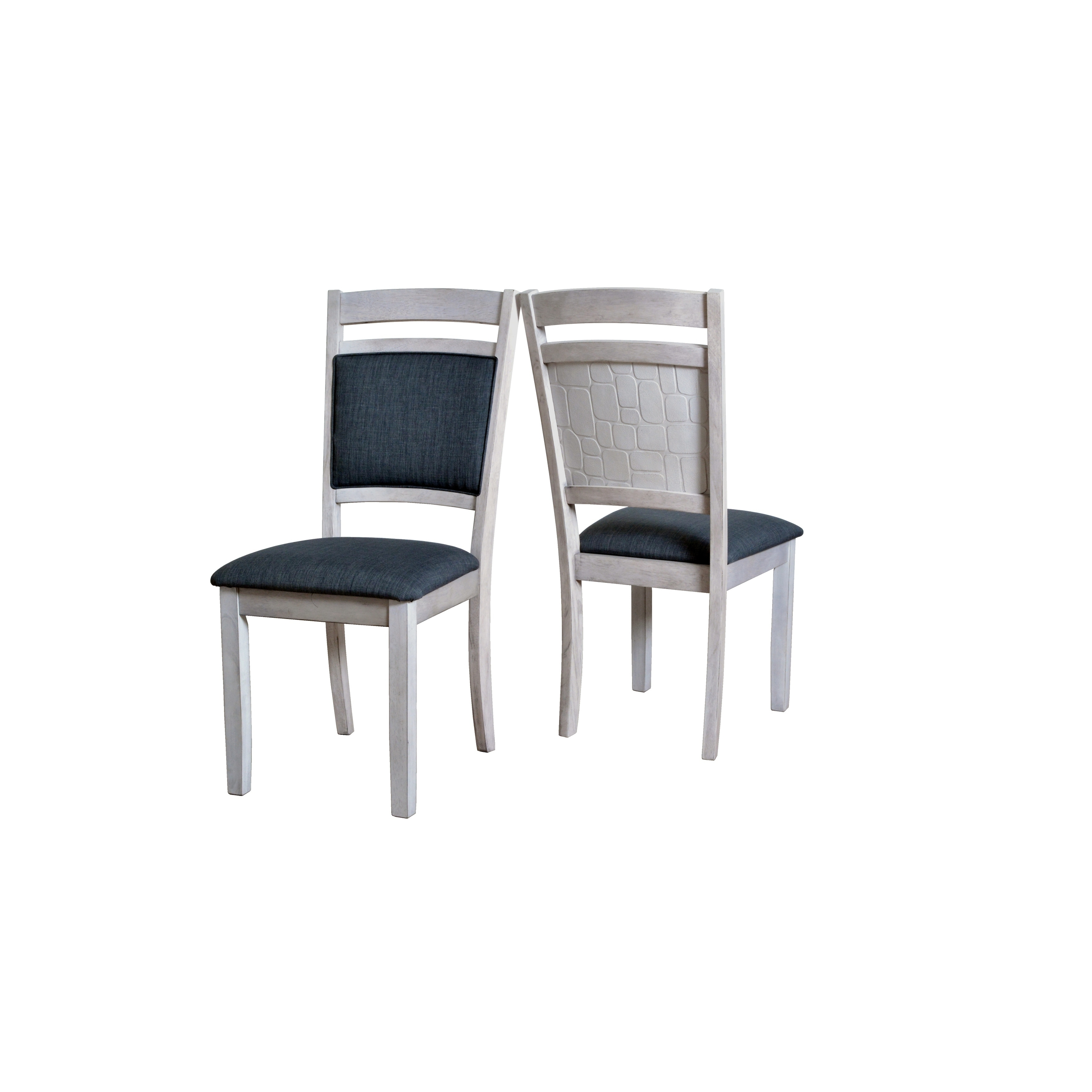 Porthos Home Side Chair With Stone Embossed Back Panel (Set Of 2)