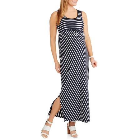 380df77c899d59 Maternity Sleeveless Striped Maxi Dress - Walmart.com