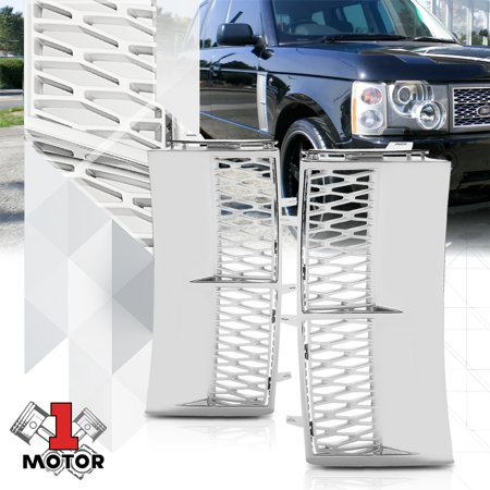09 Range - Chrome/Silver Autobiography Style Side Fender Vent Grille for 03-11 Range Rover 04 05 06 07 08 09 10