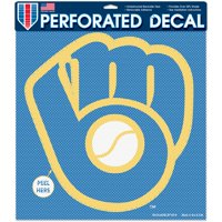 """Milwaukee Brewers WinCraft 12"""" x 12"""" Perforated Decal"""