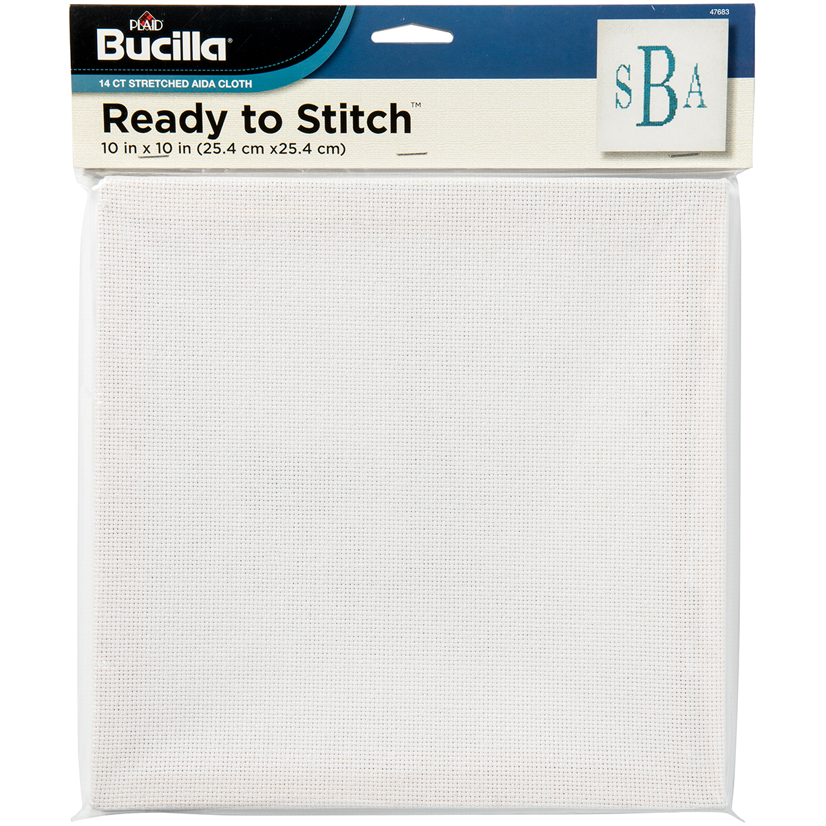 "Bucilla Aida Pre-Stretched On Wood Frame 14 Count 10""X10""-10""X10"" 14 Count"