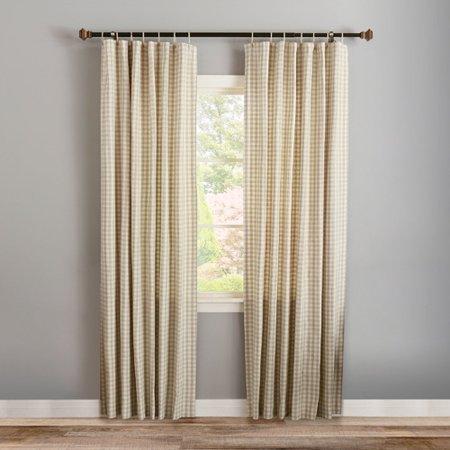 Best Home Fashion Inc Twine Geometric Semi Sheer Tab Top Curtain Panels Set Of 2