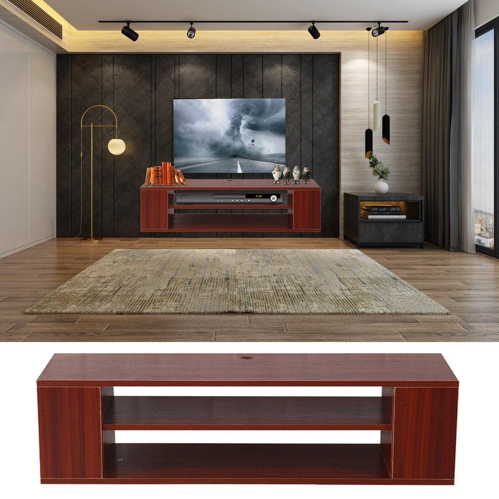 Wall Mounted TV Stand Entertainment Cabinet Home Decoration Furniture