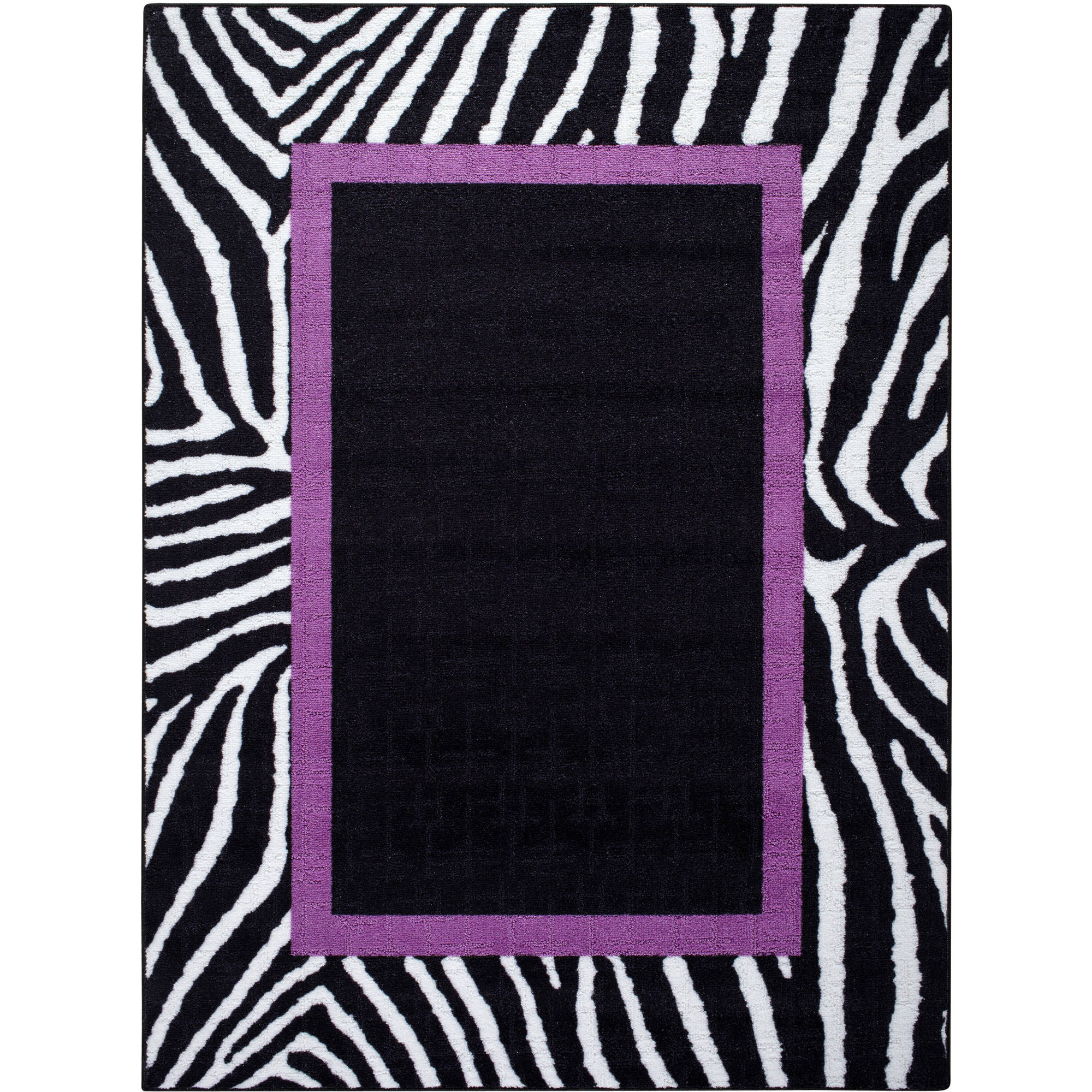 your zone purple zebra rug collection