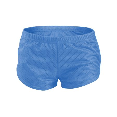 Soffe 461V4AEMED Juniors Teeny Tiny Birds Eye Mesh Shorts with Tricot Liner, Blue Aster - Medium