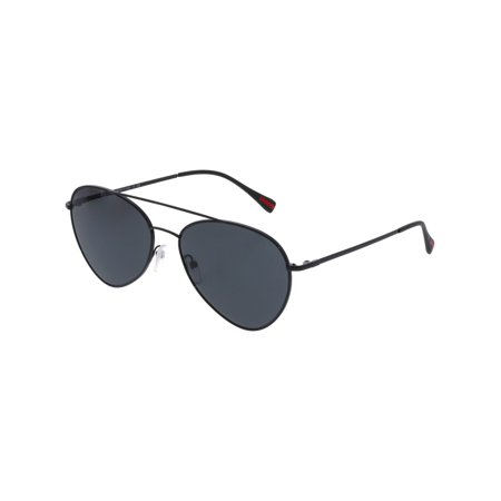 Prada Linea Rossa PS50SS-7AX5S0-60 Black Aviator (Prada Aviator Sunglasses Sale)