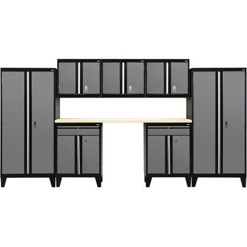 """Sandusky 8-Piece Modular Garage Welded Storage System, 79""""H x 18""""D x 162""""W"""