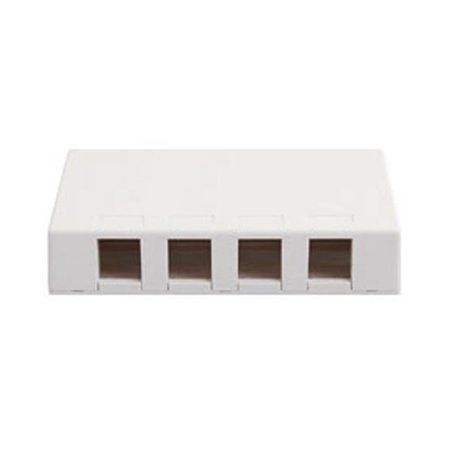 IC107SB4WH SURFACE BOX 4 PORT WHITE, SURFACE4WH New Easy administration use Port Mount Electronics Product Pro Ic107sb4wh Gang QuickPort Network Computer.., By ICC Ship from (Electronics Products)