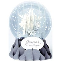 Up With Paper Holiday Snowflakes Snow Globe Pop Up Christmas Card