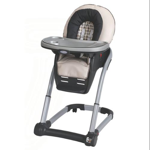 Graco Blossom 4-in-1 Seating System, Vance - Highchair To Infant Feeding Booster - Toddler Booster To Youth Chair - One Hand Removable Tray - Leatherette Seat Pad (1812897)