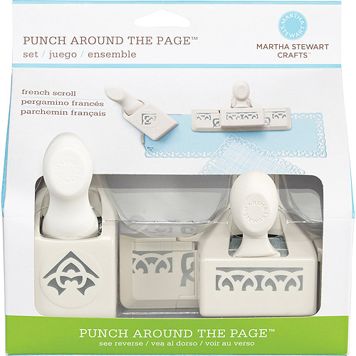 Martha Stewart Punch-Around-The-Page Combo, French Scroll