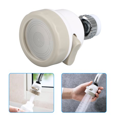 Pillar Tap Faucet Finish (EEEKit Kitchen Nozzle Faucet, 360 Degree Rotate Moveable Tap Head Perfect Kitchen Water Spray, Deluxe Internal Thread Nozzle Filter Adapter Water Saving Bubbler Connector)