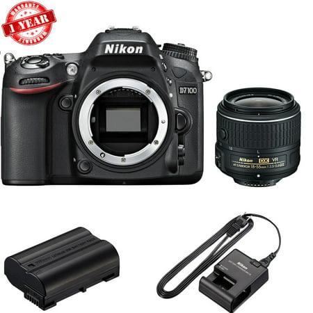 Nikon D7100 DSLR Camera with 18-55mm f/3.5-5.6G VR II Lens