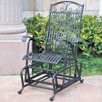 International Caravan Metal Outdoor Glider Chair