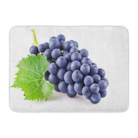 GODPOK Branch Fresh Blue Grapes with Green Leaf White Organic Food Rug Doormat Bath Mat 23.6x15.7 (Grape Branch)