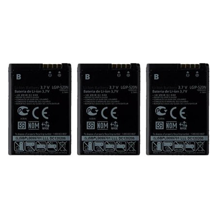 Replacement LG Chocolate Li-ion Mobile Phone Battery - 1000mAh / 3.7v (3 (Lg Chocolate Cell Phone Battery)