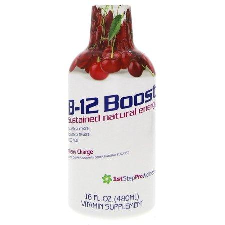 1St Step For Energy B12   Cherry Charge  16 Fl Oz  1 Pt  518 40 Ml