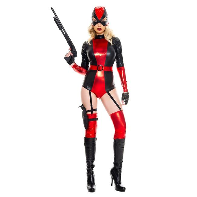 Music legs Harley Quinn romper adult costume