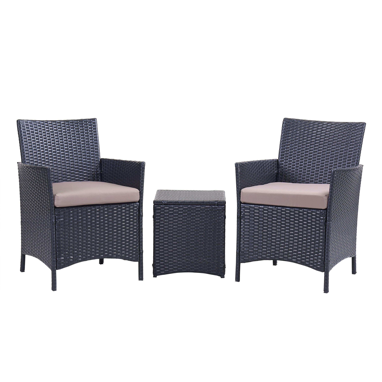 Super Santa Cruz 3 Piece Outdoor Conversation Set Multiple Colors Andrewgaddart Wooden Chair Designs For Living Room Andrewgaddartcom