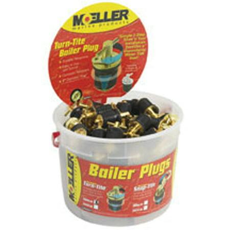 Moeller 020899-50 Turn-Tite Brass Bailer Plug Display Bucket- 1