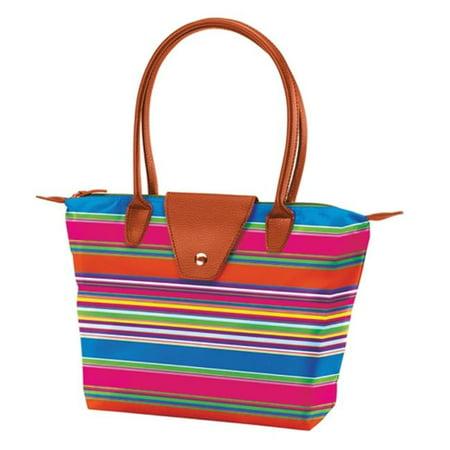 Joann Marrie Designs Nf1ors2 Small Fold Up Bag   Orange Stripe  44  Pack Of 2