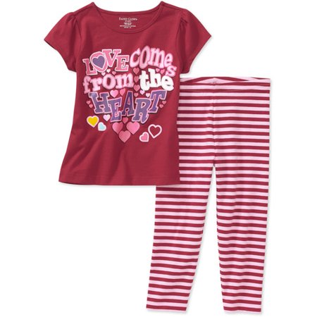 Baby Girls' 2-Piece Valentines Day Tee and Leggings Set