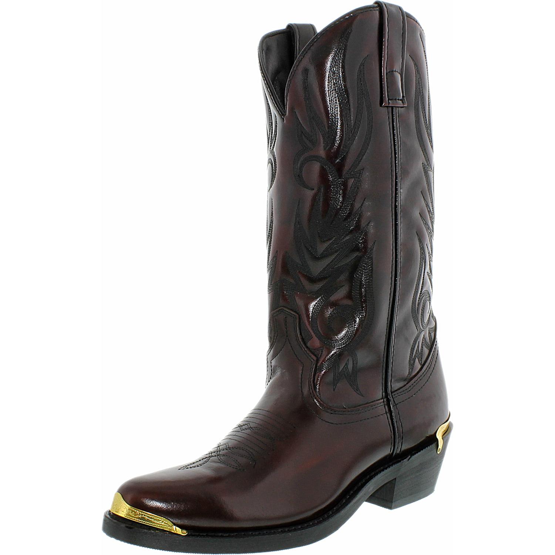 Laredo Men's Mccomb Leather Black Cherry Mid-Calf Leather Boot 11D by Laredo