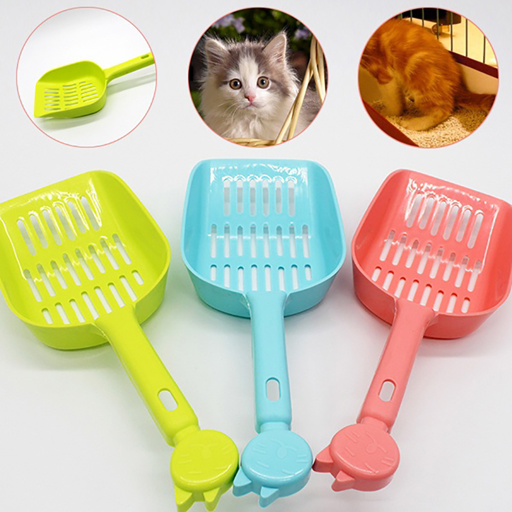 HiCoup Hollow Out Cat Litter Shovel Candy Color Pet Cleaner Scooper Tool for Cat Dog