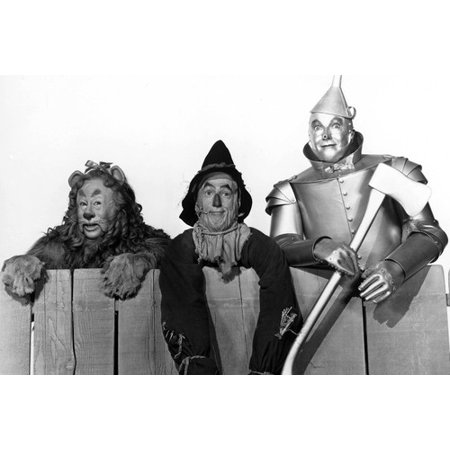 Ray Bolger, Jack Haley and Bert Lahr in The Wizard of Oz 24x36 Poster Tin Man Cowardly Lion & Scarecrow