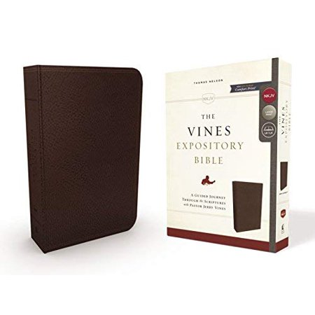 The NKJV, Vines Expository Bible (3373BRN - Brown Leathersoft) - image 1 de 1