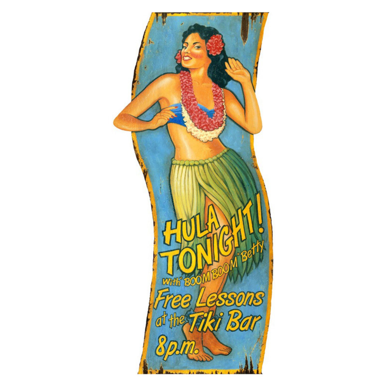 Hula Girl Wall Art - 18W x 40H in.