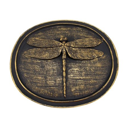 Bronze Finish Dragonfly Wall Plaque Entomology