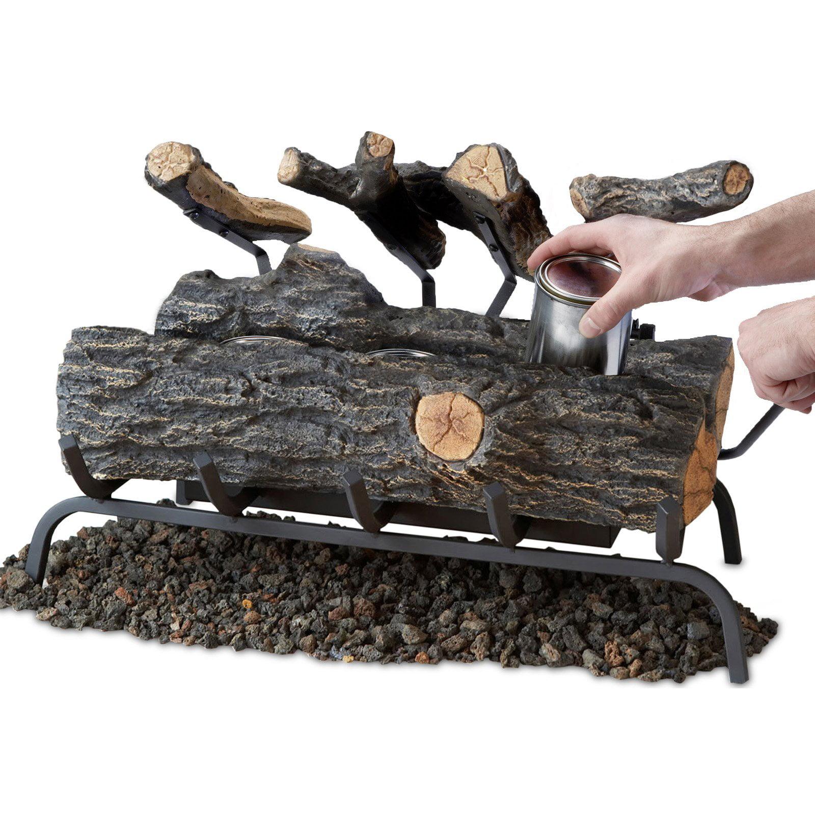 Real Flame 24 In Convert To Gel Log Insert Oak Walmart Com