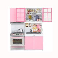 iLH Mallroom Xmas Gift Mini Kids Kitchen Pretend Play Cooking Set Cabinet Stove Girls Toy