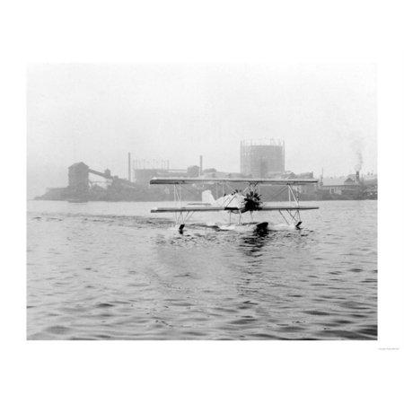 Boeing Seaplane on Lake Union Photograph - Seattle, WA Print Wall Art By Lantern (Homes For Sale On Secord Lake Gladwin Mi)