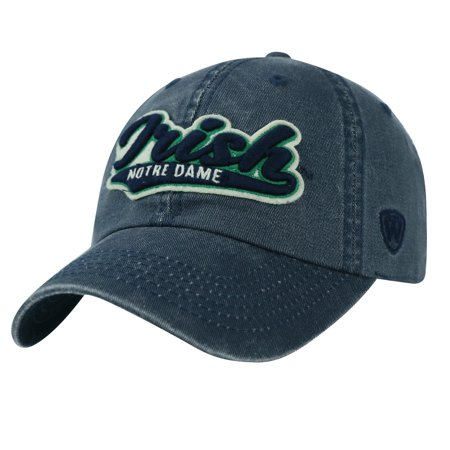 480725ae50da8 Notre Dame Fighting Irish TOW Vintage Navy Park Style Adj. Slouch Relax Hat  Cap