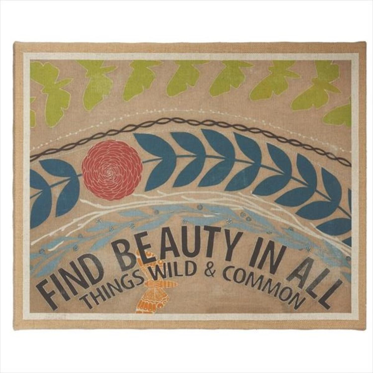 "20"" Inspiration ""Find Beauty In All"" Decorative Canvas Wall Art"