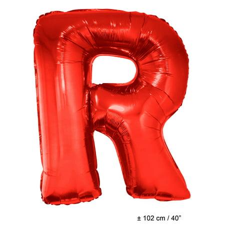 Letter R Super Shape Solid Jumbo Helium Quality 40