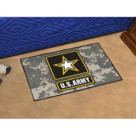 5656 Fanmats U S  Army Starter Rug 19In X 30In Virginia Mil Non Skid Machine Washable Made In Usa